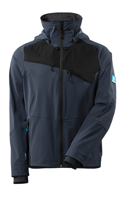 MASCOT® ADVANCED - dark navy/black - Jacket, four-way stretch, waterproof, lightweight