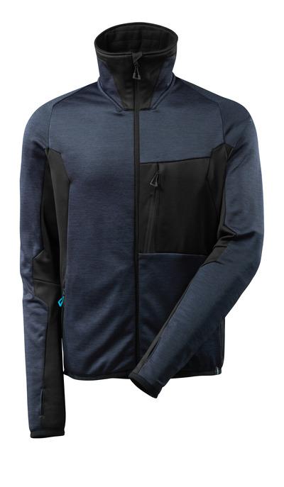 MASCOT® ADVANCED - dark navy/black - Fleece Jumper with zipper, modern fit