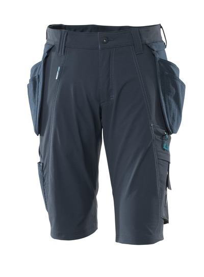 MASCOT® ADVANCED - dark navy - Shorts with detachable CORDURA® holster pockets, four-way stretch, lightweight