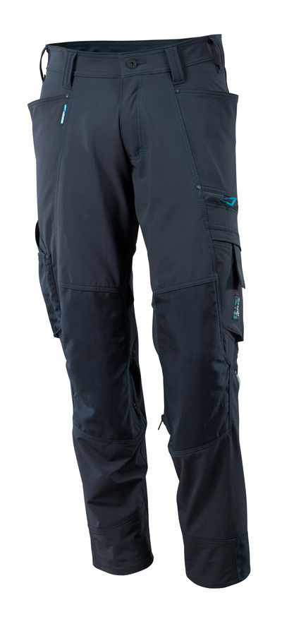 MASCOT® ADVANCED - dark navy - Trousers with CORDURA® kneepad pockets, four-way stretch, lightweight