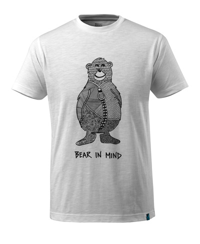 MASCOT® ADVANCED - white* - T-shirt with bear logo BEAR IN MIND, modern fit