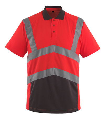 MASCOT® Anadia - hi-vis red/dark anthracite - Polo Shirt, modern fit, class 2