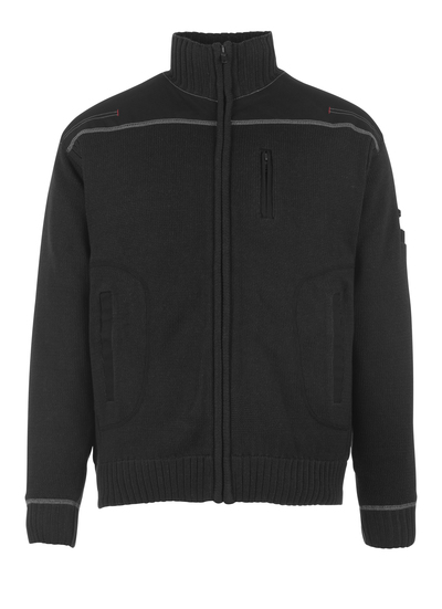 MASCOT® Arta - black - Knitted Jumper with zipper, modern fit