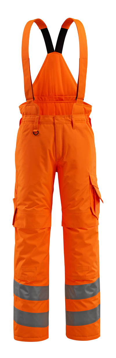 MASCOT® Ashford - hi-vis orange - Winter Trousers with quilted lining and removable braces, waterproof