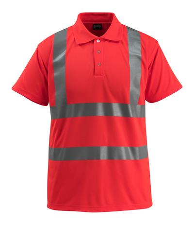 MASCOT® Bowen - hi-vis red - Polo Shirt, classic fit, class 2