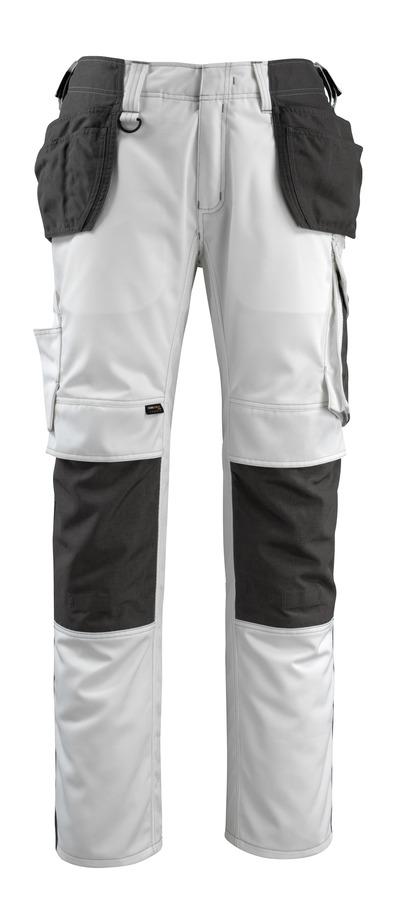 MASCOT® Bremen - white/dark anthracite - Craftsmen's Trousers