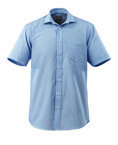 MASCOT® CROSSOVER - light blue - Shirt Oxford, classic fit, short-sleeved.