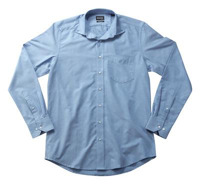 MASCOT® CROSSOVER - light blue - Shirt Oxford, modern fit, long-sleeved.