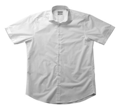 MASCOT® CROSSOVER - white - Shirt poplin, classic fit, short-sleeved.
