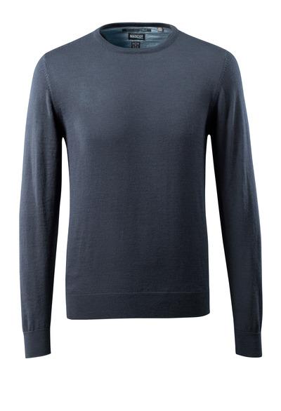 MASCOT® CROSSOVER - dark navy - Knitted Jumper round neck, with merino wool.