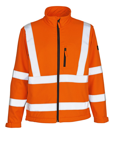 MASCOT® Calgary - hi-vis orange - Softshell Jacket with fleece on inner side, class 3