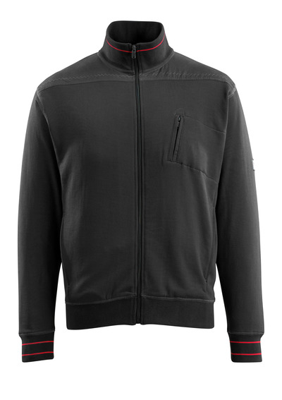 MASCOT® Chania - black - Sweatshirt with zipper, modern fit