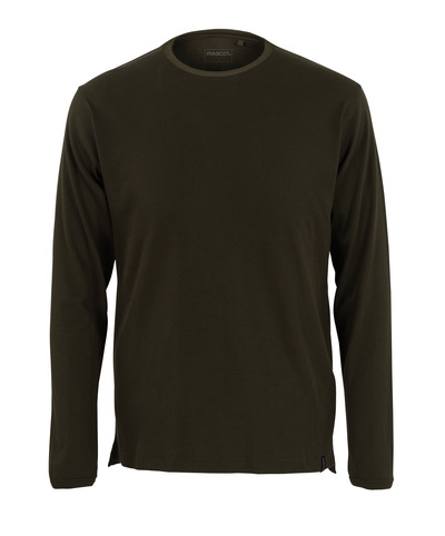 MASCOT® Crato - dark olive* - T-shirt, long-sleeved