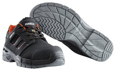 MASCOT® Diran - black/dark orange - Safety Shoe S3 with laces
