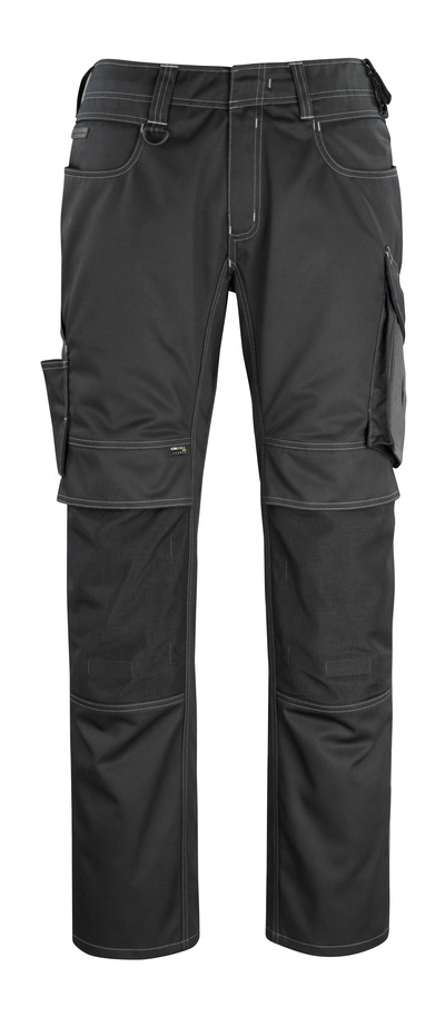 MASCOT® Erlangen - black/dark anthracite - Trousers with CORDURA® kneepad pockets, high durability