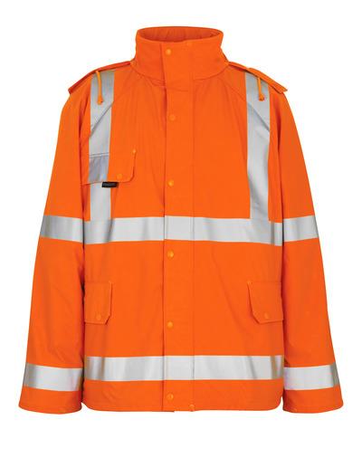 MASCOT® Feldbach - hi-vis orange - Rain Jacket, wind and waterproof, class 3