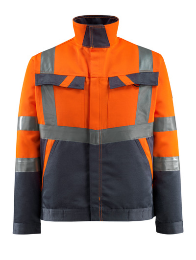 MASCOT® Forster - hi-vis orange/dark navy - Jacket, lightweight, class 2