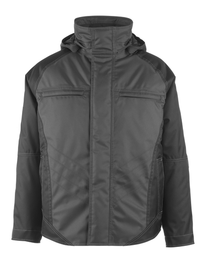 MASCOT® Frankfurt - dark anthracite/black - Winter Jacket with quilted fleece lining, waterproof