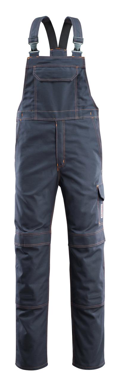 MASCOT® Freibourg - dark navy - Bib & Brace with kneepad pockets, multi-protective