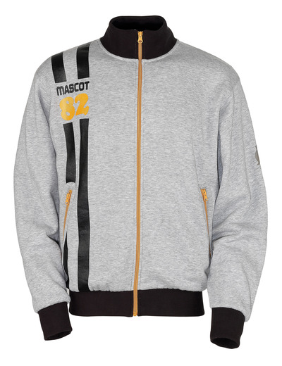 MASCOT® Fundao - grey-flecked* - Zipped Sweatshirt