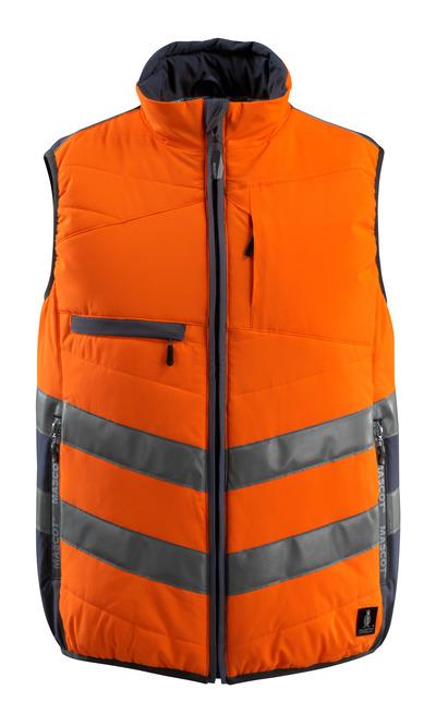 MASCOT® Grimsby - hi-vis orange/dark navy - Gilet, padded, water-repellent