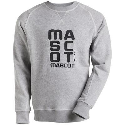 MASCOT® HARDWEAR - grey-flecked* - Sweatshirt with embroidered MASCOT logo, modern fit