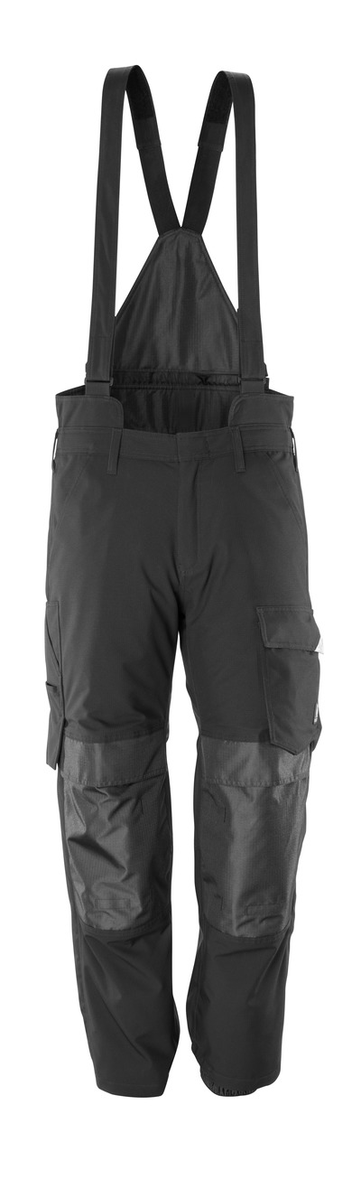 MASCOT® HARDWEAR - black - Over Trousers with kneepad pockets, wind and waterproof