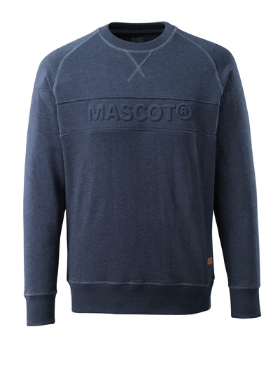 MASCOT® HARDWEAR - washed dark blue denim - Sweatshirt with embossed MASCOT logo, modern fit