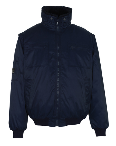 MASCOT® Innsbruck - navy - Pilot Jacket with detachable pile lining, water-repellent Bearnylon®