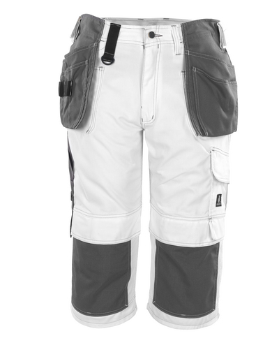 MASCOT® Jaca - white* - ¾ Length Trousers with kneepad pockets and holster pockets