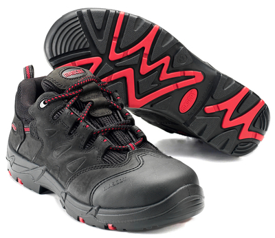 MASCOT® Kilimanjaro - black/red - Safety Shoe S3 with laces