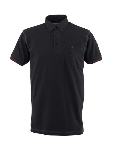 MASCOT® Kreta - black - Polo Shirt with chest pocket, modern fit