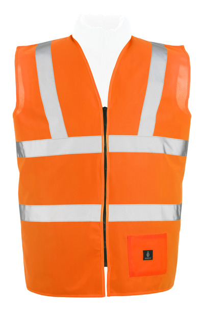 MASCOT® Lakewood - hi-vis orange* - Traffic Vest with zipper, class 2