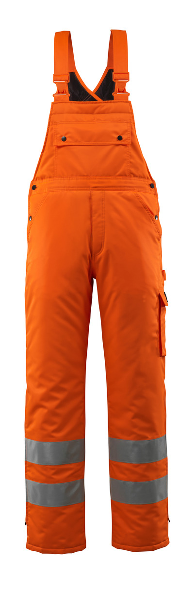 MASCOT® Lech - hi-vis orange - Winter Bib & Brace with quilted lining, waterproof MASCOTEX®, class 2
