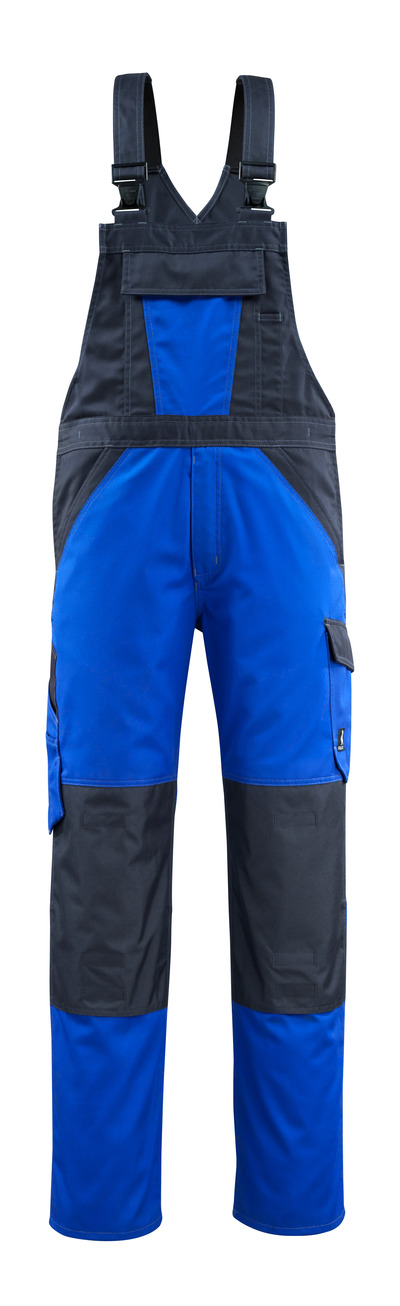 MASCOT® Leeton - royal/dark navy - Bib & Brace with kneepad pockets, lightweight
