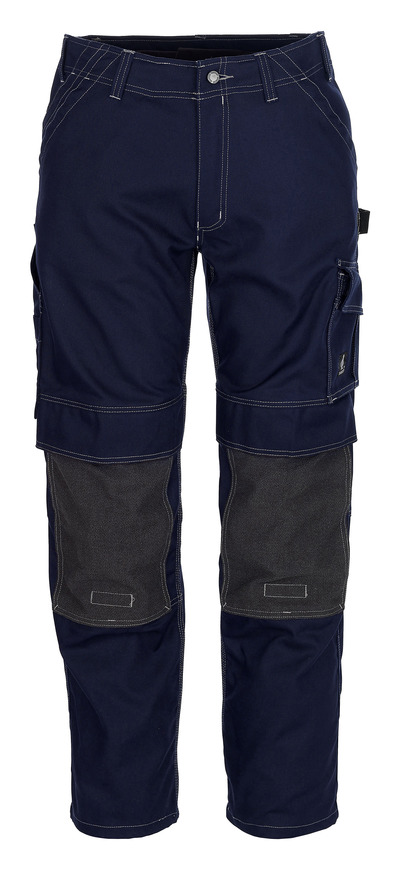 MASCOT® Lerida - navy - Trousers with Kevlar® kneepad pockets, high durability
