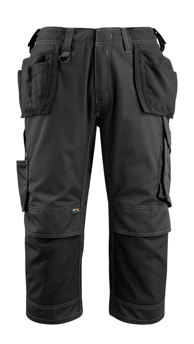 MASCOT® Lindau - black - Craftsmen's ¾ Trousers