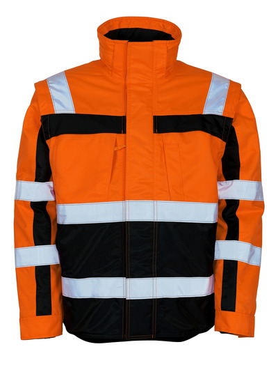 MASCOT® Loreto - hi-vis orange/navy - Winter Jacket with detachable thermal jacket, water-repellent, class 3