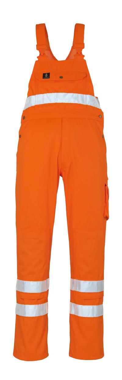 MASCOT® Maine - hi-vis orange* - Bib & Brace with kneepad pockets
