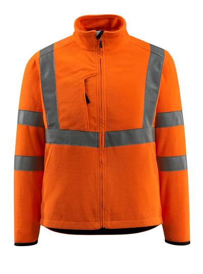 MASCOT® Mildura - hi-vis orange - Fleece Jacket with high collar, class 3