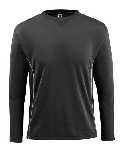 MASCOT® Montilla - black/high-visibility hi-vis yellow - T-shirt