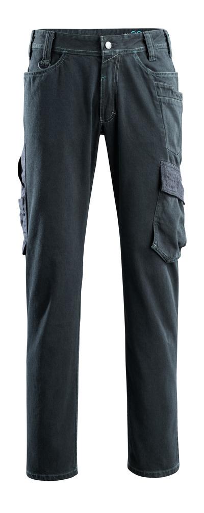 MASCOT® Navia - dark blue denim - Jeans with thigh pockets, extra high durability