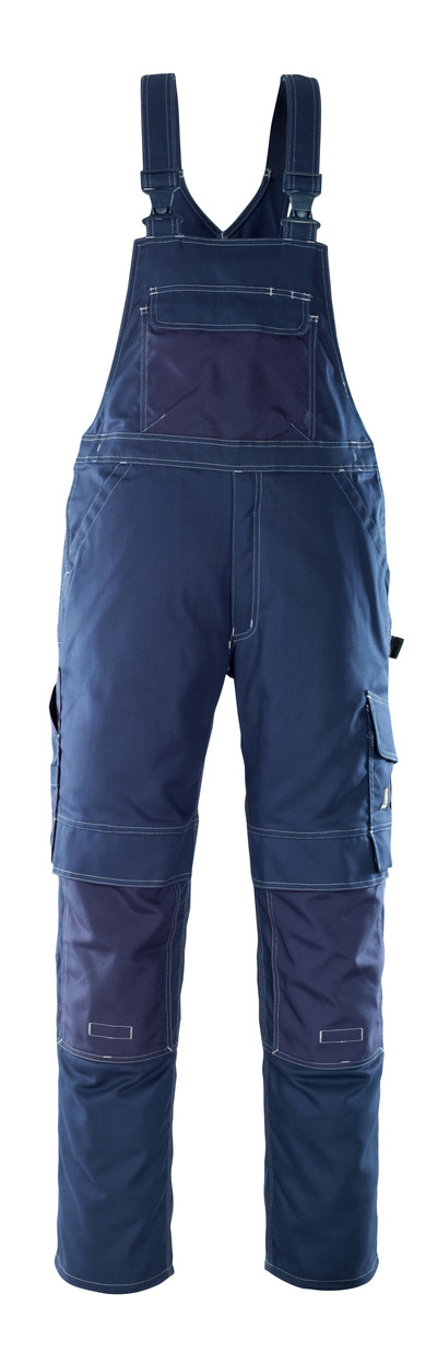 MASCOT® Orense - navy - Bib & Brace with kneepad pockets, high durability