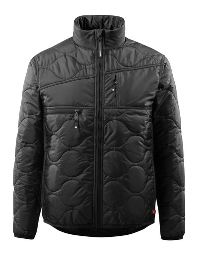 MASCOT® Palencia - black - Jacket with lining, high collar and highly insulating