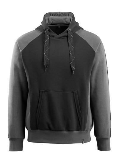 MASCOT® Regensburg - black/dark anthracite - Hoodie, modern fit