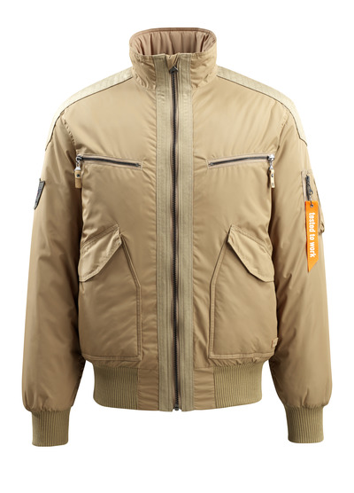 MASCOT® Riverdale - khaki - Pilot Jacket with quilted lining, water-repellent