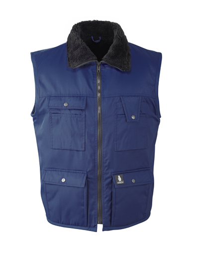 MASCOT® Sölden - navy - Winter Gilet with pile lining, water-repellent Bearnylon®
