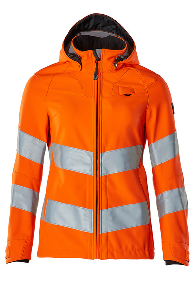 MASCOT® SAFE SUPREME - hi-vis orange - Softshell Jacket, ladies fit, water-repellent, EN ISO 20471