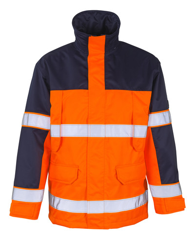 MASCOT® Savona - hi-vis orange/navy - Parka with detachable quilted lining, waterproof MASCOTEX®, class 3