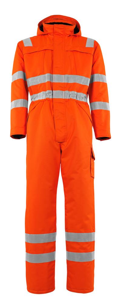 MASCOT® Tombos - hi-vis orange - Winter Boilersuit with pile lining, waterproof MASCOTEX®, class 3